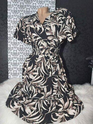 Haljina za sve prilike Pamucna haljina Dostupna u vise dezena Velicina