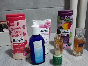 Parfem-i-ml - Srbija: 6 proizvoda za negu + parfem.  Set sadrzi: - 2 nova, neotvorena balea