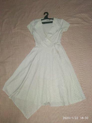 блузка в горошек в Кыргызстан: Красивое платье. в горошек размер 46 50 подойдёт продам или обменяю