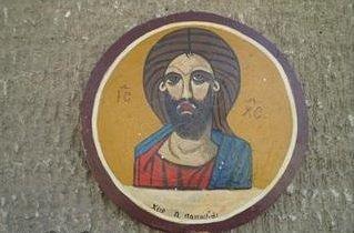 ΑΓΙΟΓΡΑΦΙΑ Ιησού Χριστούχειροποίητη του Α. Παπαδιού.Πάνω σε ξύλο με