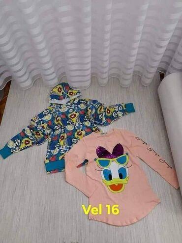 Duks i majica za devojčice veličina 16 Cena duks+majica 1400 rsd