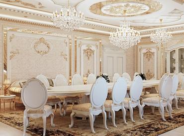 Дизайн столовой в частном доме Бишкек в Бишкек