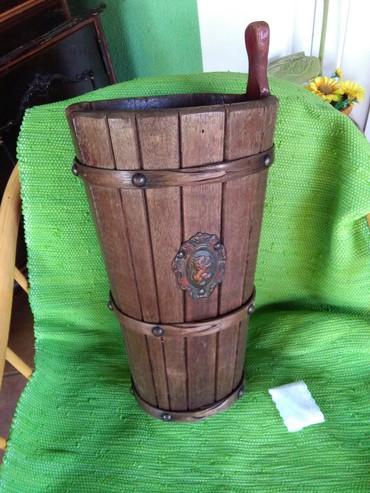 Burence drveno stari rucni rad,za kisobrane,cvece,ko sta voli,lep - Sombor