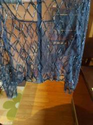 Atraktivna mrezasta bluzica teget boje mnogo lepsa uzivo - Prokuplje