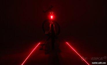 Велосипедный задний фонарь с габаритным огнем и лазерным указателем в Бишкек