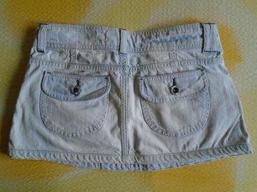 Mini, suknjica od teksasa, (100% pamuk), bershka, veličine 36. Nošena - Beograd - slika 2