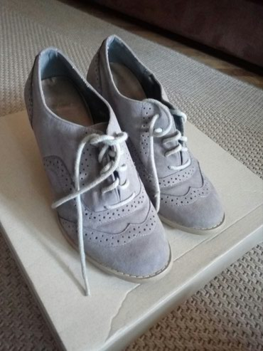 Cm obim tamno sive - Srbija: Sive duboke cipele br 36