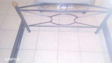 Πωλειται σιδερένιο κρεβάτι ημιδιπλο(2 μέτρα μήκος 1,10 πλάτος) σε άρισ σε Αθήνα