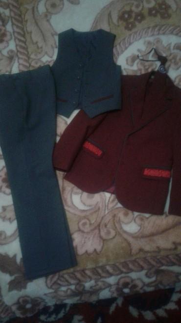 Наборы в Кок-Ой: Школьная форма, практически новая один раз одевал. на 7 -8-лет, мальчи