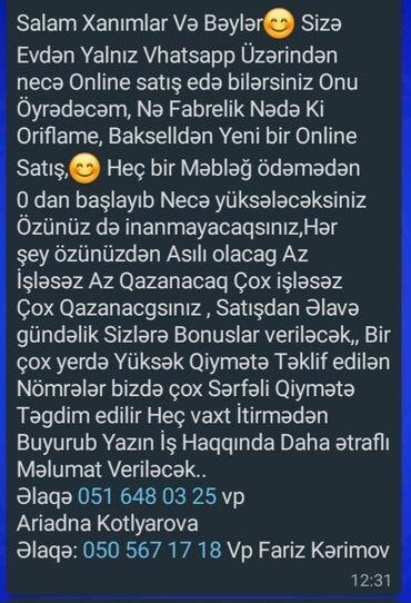 15 elan | İŞ: Satış məsləhətçiləri. Təcrübəsiz