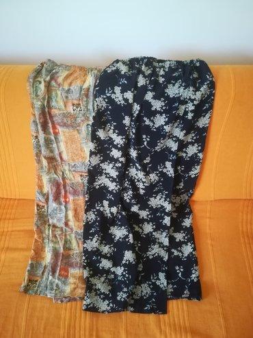 Dve duže suknje za leto vel 42, obe za 900 din, imaju lastrež, obim