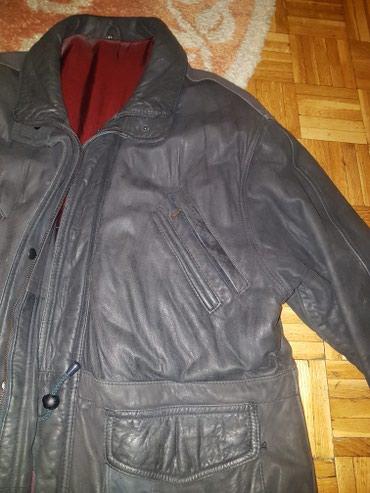 Prava koza - kao nova! Jako debela koza, muska zimska jakna debela, - Beograd