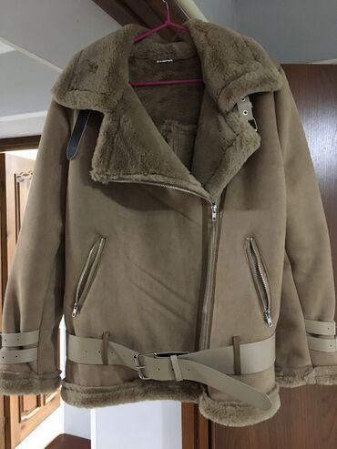 Куртки - Бежевый - Бишкек: Дублёнка авиатор. Качество супер.Размер стандарт.Только доставка(