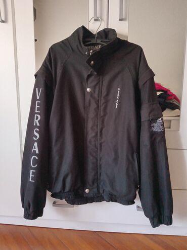 Muski prsluci - Srbija: Muska, lagana jakna Versace,velicina L.Rukavi se skidaju i moze se