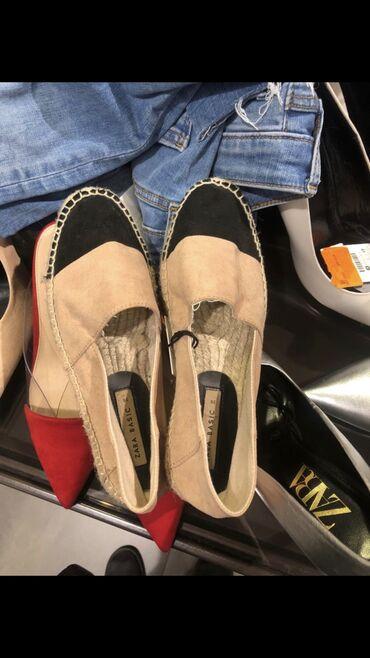 Женская обувь в Шопоков: Мокасины Zara очень удобные, новые обуты 1 раз на выход. Размер 35 на