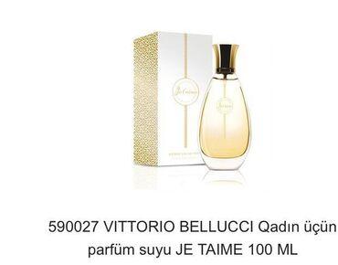 - Azərbaycan: Vi̇ttori̇o bellucci̇ qadın parfüm suyu je tame 100 ml edrim var