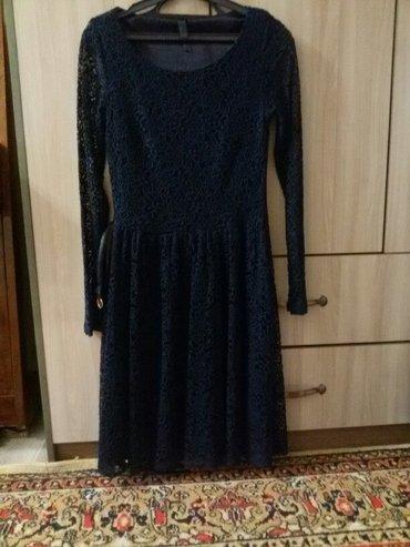 темно синее в Кыргызстан: Гипюровое платье, цвет темно синий, 36 размер, турция