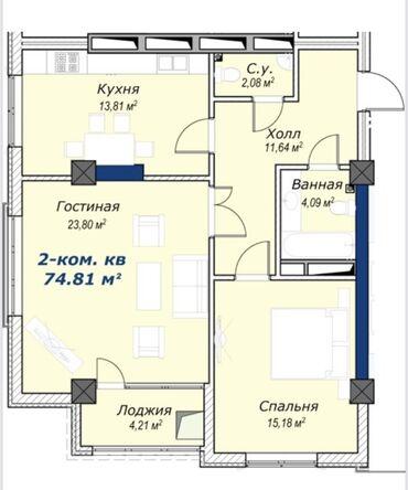 жилой комплекс малина бишкек в Кыргызстан: Продается квартира:Элитка, Южные микрорайоны, 2 комнаты, 74 кв. м