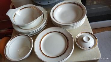 Продам набор белой посуды с золотой в Бишкек