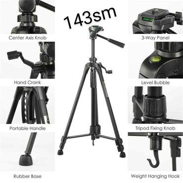 foto kamera - Azərbaycan: Kamera ve telefon tutacagiTripod 3520 model 143sm uzunluguKamera