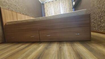 купить мерс 190 дизель в Кыргызстан: Кровать двуспальная с матрасом размеры: 190×160 2 вместительных ящика