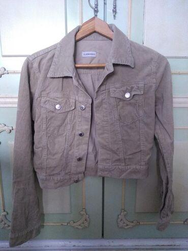 Ženske jakne | Nis: C&A jaknica prolećna od somota krem boje, nošena jednom, nema