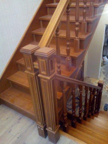 Деревянные лестницы  гарантия качества. Деревянные столы, кровать, в Бишкек