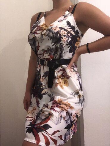 Σατεν φλοραλ φορεμα καινουργιο, s/m