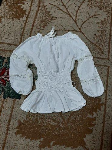 блузки-рубашка в Кыргызстан: Распродажа!!! Рубашка крестьянка. Пояс затягивается как на корсете