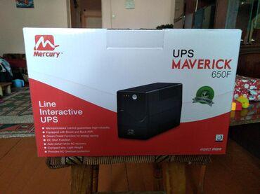 mercury-elite-850-pro в Кыргызстан: Стабилизатор напряжения UPS Mercury MAVERICK 650VA (AVR)