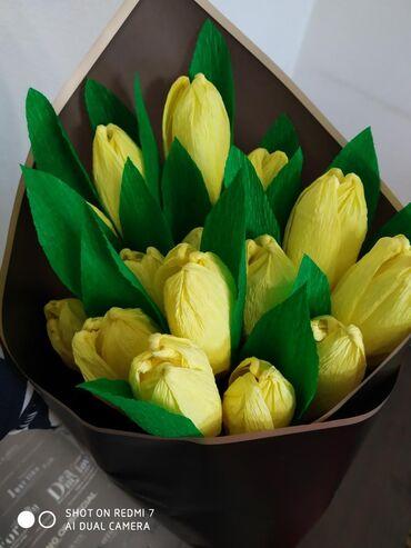 Товары для праздников - Кыргызстан: Тюльпаны из гофра бумаги.  На заказ!