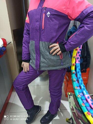 спорт костюм женский в Кыргызстан: Костюм горнолыжный женский DISANDAO. Водонепроницаемый, с мембраной