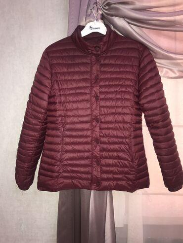 Короткая куртка на Деми сезон. Цвет марсала . Размер на 40-42