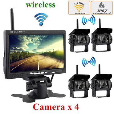 Kamion - Srbija: Monitor 7inci + 4 wifi bezicne kamere za kamione,kombajne Set monitor