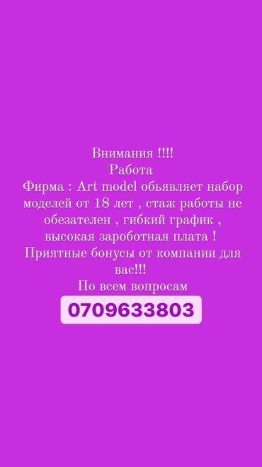 работа без опыта для девушек в Кыргызстан: Работа!  Для девушек! От 18лет!