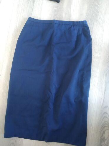 Продается синяя и черная юбки. Б/у. Цена по 250 сом. Размер 48. Черные