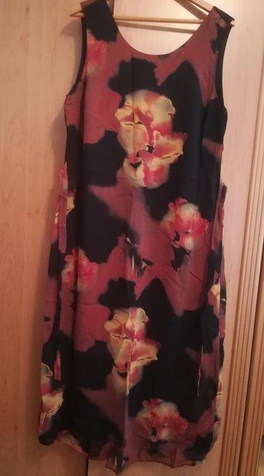 Prelepa braon haljina za leto vel 48, kao nova, ima podstavu, pozadi