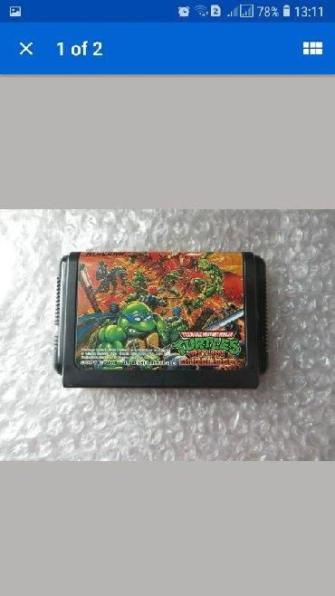 sega oyun kasetleri - Azərbaycan: Sega mega drıve üçün çerepaşka nindza oyun kaseti satılır heç bir