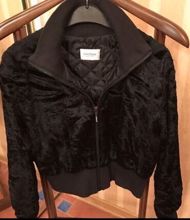 Италия куртка на стеганной подкладке утепленная укороченная одета 1