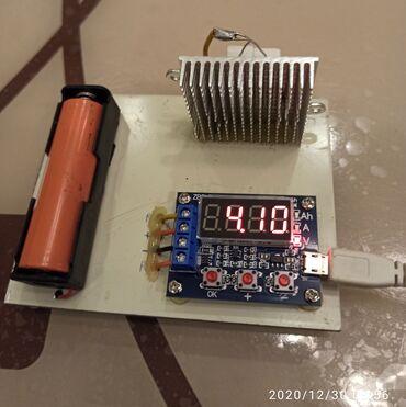 зарядное устройство 18650 в Азербайджан: Li-ion 18650 və s. batareyaların amper dəyərlərini hesablayır.İsləmə