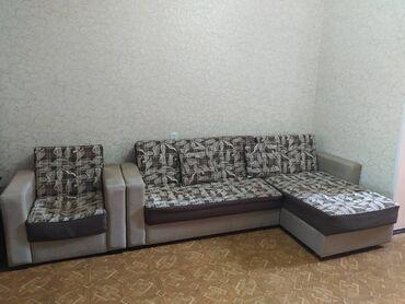 продам кресло кровать in Кыргызстан | ДИВАНЫ: Продаю! Диван с креслом. Диван можно разложить и сделать кроватью. Т