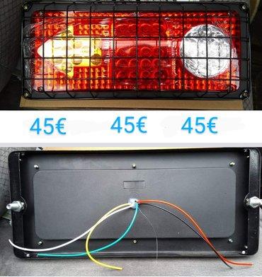Φανάρια led με προστατευτικό σκελετό το ζευγάρι 45€ για φορτηγά