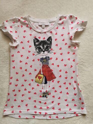 Cetiri majice - Srbija: Majica Charles Vogele za devojčice.Veličina 116.U odličnom stanju, kao
