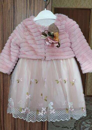 детские двойки в Кыргызстан: Очень красивое двойка-платье, производство Турция. 80% хлопок, 20%