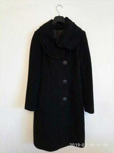 женский пальто в Кыргызстан: Женское демисезонное пальто,Турция 44-46размера,черное,б/у в отличном