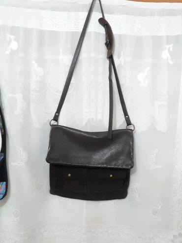 Кожаная сумка 100%натуралка.Ремешок регулируется