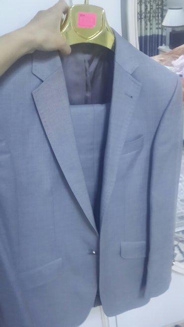 Костюм мужской, 48 размер, турецкий. Цвет серый  в Бишкек