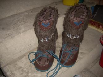 Tople cizme u braon i svetlo plavoj boji, broj 36 - Belgrade