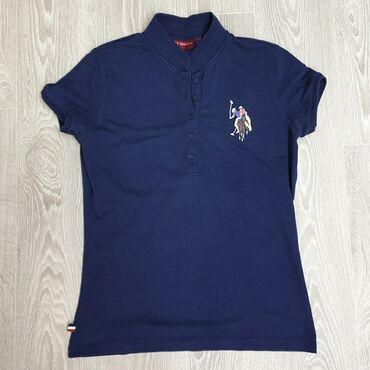 Футболки - Кыргызстан: Классная женская футболка - поло известного бренда US Polo в хорошем