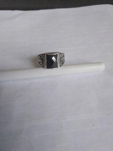 Аксессуары - Сокулук: Мужской серебряный кольцо вес 6 грамм проба 925 размер 19 или 19,5